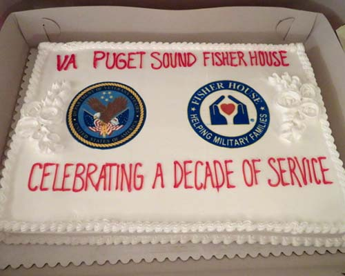 Supporting Puget Sound Fisher House for families whose Veteran is in the VA hospital